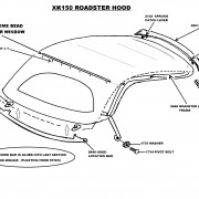 XK150 OTS hood diagram