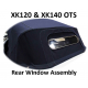 XK120 & XK140 Roadster 3-piece Solid  Rear Window Assembly for Hood