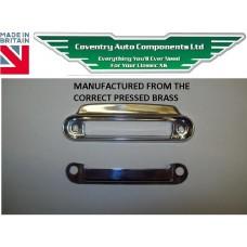 Correct  XK140 & XK150 Drop & Fixed Head & Roadster Coupe Door Lock Slide Escutcheon For Interior Door Cards