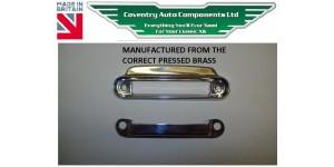2270 Correct  XK140 & XK150 Drop & Fixed Head & Roadster Coupe Door Lock Slide Escutcheon For Interior Door  BD9263 & 4