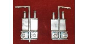 2451. Pair XK150 & XK140 FHC Front Quarterlight / N. D. V. Inner Frame Friction Pivot Assemblies . BD13150. BD13151