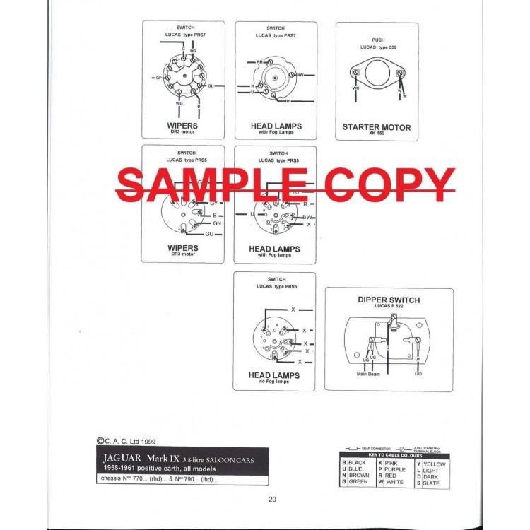 classic jaguar mk ix 9 exploded wiring diagram book 9175 rh coventryautocomponents co uk