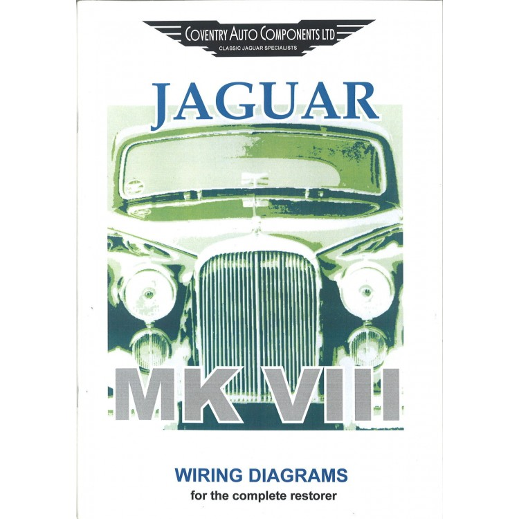 Classic Jaguar MKVIII (Mk8) Exploded Wiring Diagram Book (9174)