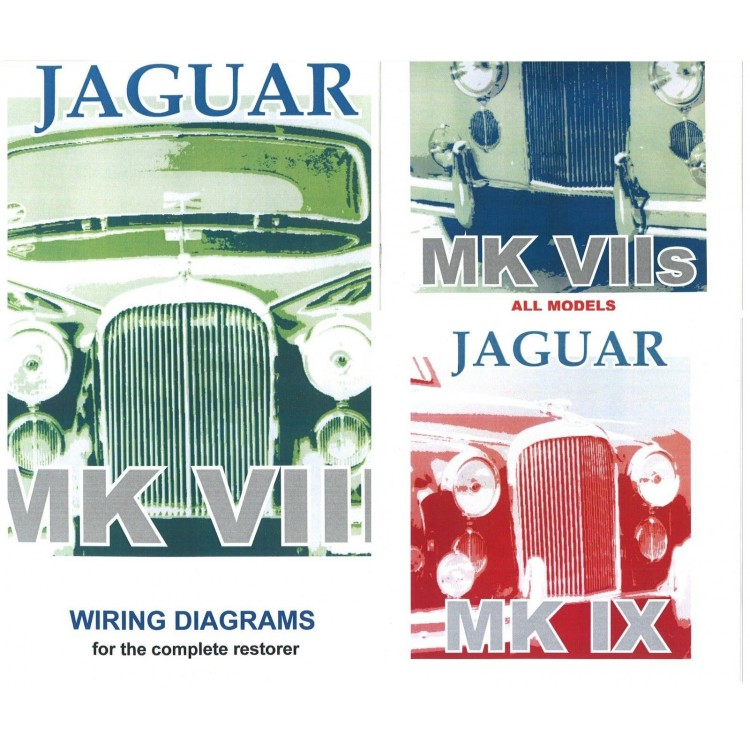*set of 3* jaguar mk 7 & 8 & 9 exploded wiring diagrams books