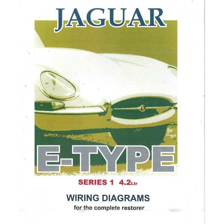 jaguar e type series 1, 4.2 litre wiring diagram book (9191) jaguar xj6 4 2 wiring diagram jaguar e type 4 2 wiring diagram