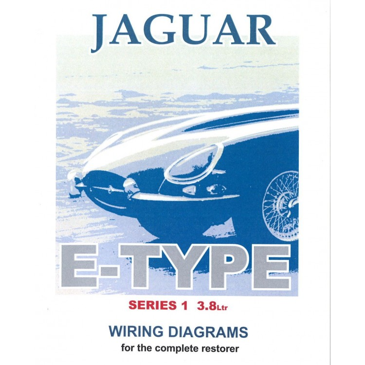 Series 1 E-type 3.8 Jaguar Exploded Wiring Diagram Book (9190)