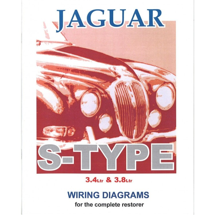 jaguar stype exploded wiring diagram book 9195