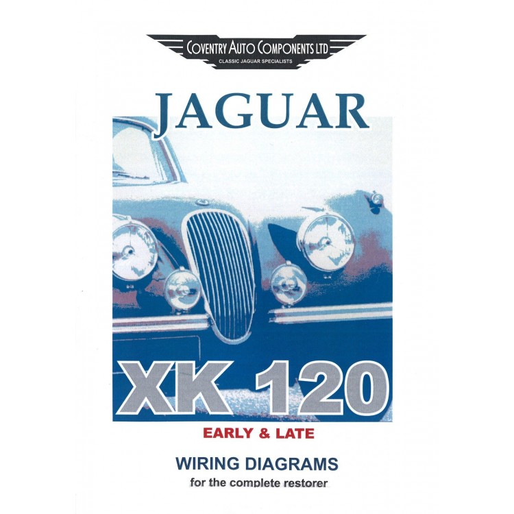 XK120 Jaguar Exploded Wiring Diagram Book (9186) on