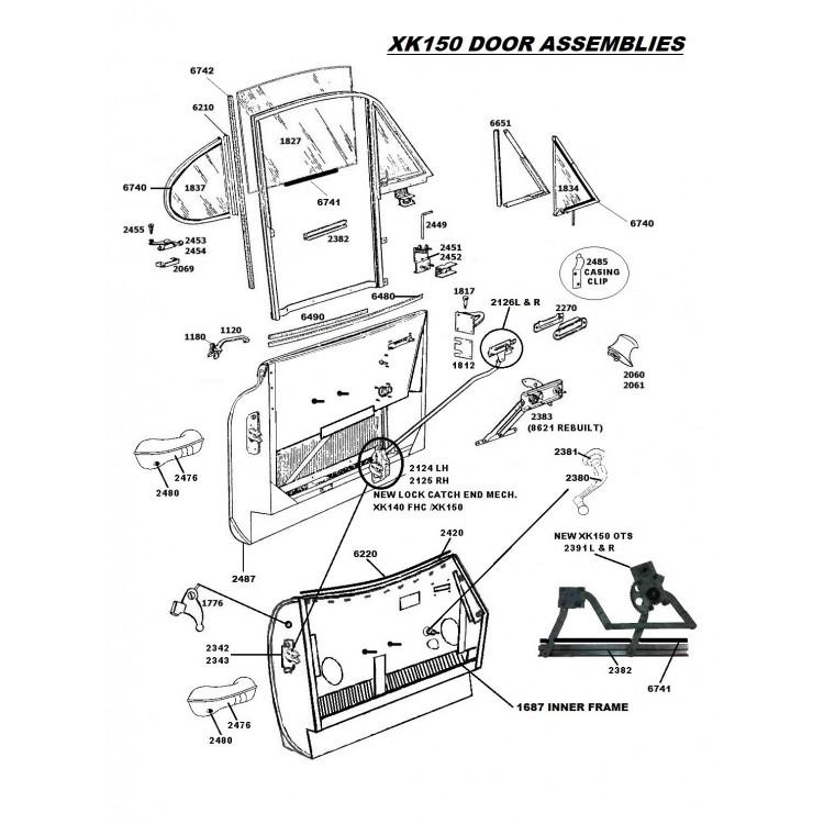 xk150  u0026 xk140 door   boot handle pushbutton spring  hex