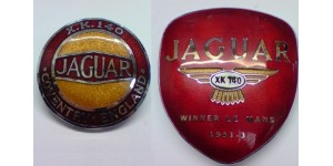 XK140 Front & Rear  Enamel Badge Set