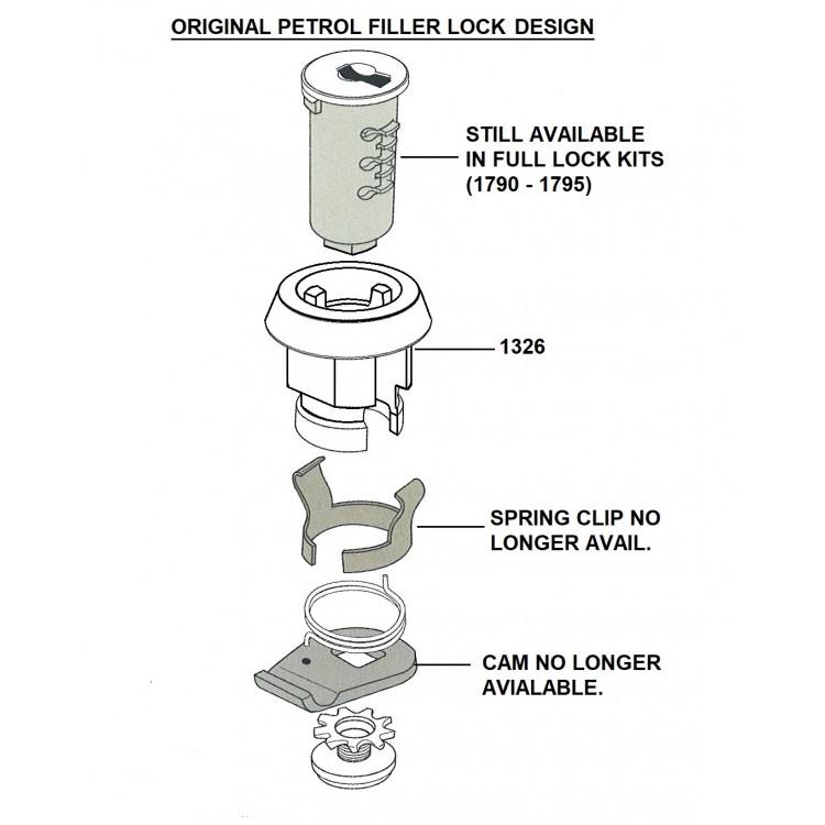 Xk Petrol Filler Cap Lock  U0026 Keys  Modern Replacement