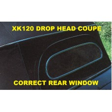 Correct Solid XK120 Drop Head Coupe  Rear Window &  Surround for Hood BD6760