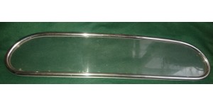 XK120 Drop Head Coupe Solid Rear Window with Chrome Surrounds for Hood