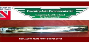 1650SET. Discounted XK140 Front and Rear Bumper Set with Overriders. C9751.C8896. C8897