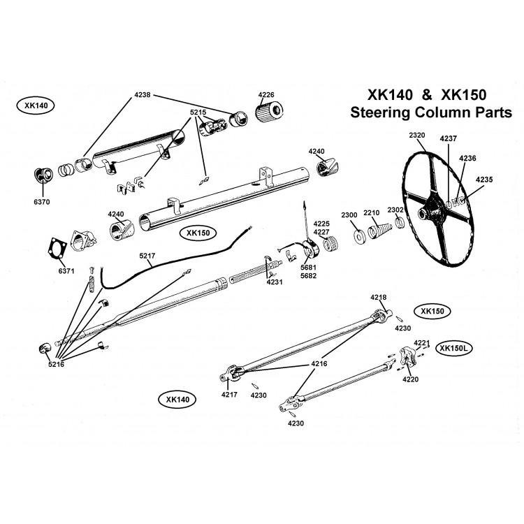 jaguar xk120 xk140  u0026 xk150 steering column spring
