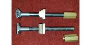 Suspension Torsion Bar Bolt,  Nut and Trunnion Complete Kit