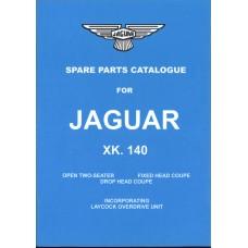 Jaguar XK140 Spare Parts Book - Reprint (9040)