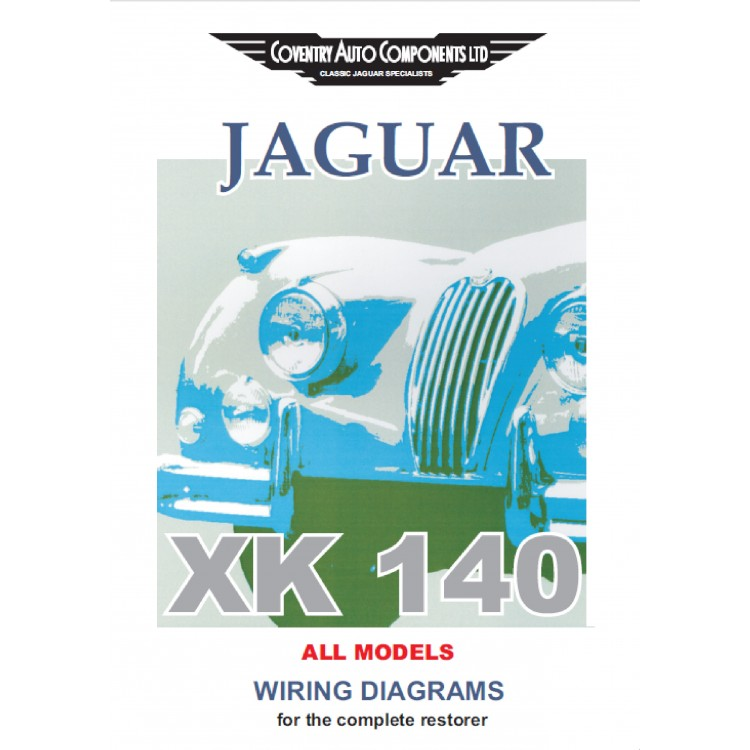 Jaguar Xk140 Exploded Wiring Diagrams Book  9187