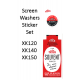Trico Screen Washer Bracket Sticker & Trico Round Screen Washer Bottle Sticker (SET) 9300 & 9301