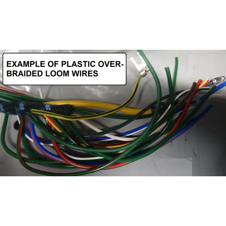 xk140 plastic braided wiring harness pb rh coventryautocomponents co uk  plastic wiring harness