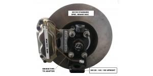 SE305 XK120 & XK140 FRONT DISC BRAKE CONVERSION FOR SPLINED WIRE  WHEELS incs. HUBS & DISCS