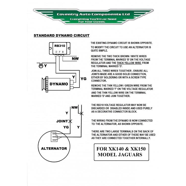 Xk150 alternator kit se336 jaguar xk150 original look alternator kit 13mm pulley fan se336 asfbconference2016 Choice Image